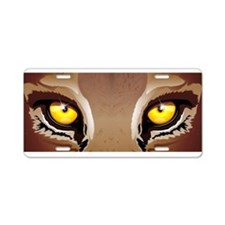 Wild Puma Eyes Aluminum License Plate