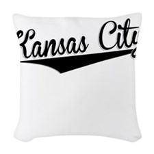 Kansas City, Retro, Woven Throw Pillow
