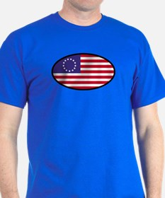 Betsy Ross Flag Oval T-Shirt