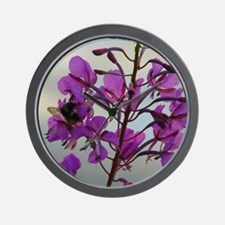 Fireweed Blooms Wall Clock