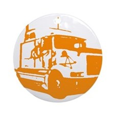 Semi Truck Ornament (Round)