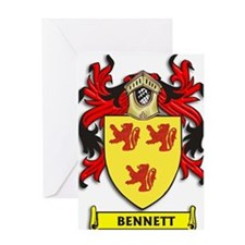 Bennett Coat of Arms Greeting Cards