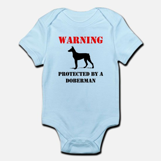 Protected By A Doberman Body Suit
