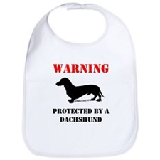 Protected By A Dachshund Bib