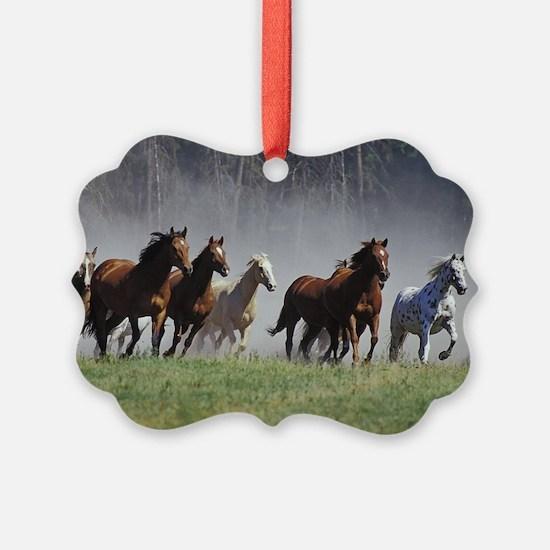 Galloping Horses Ornament