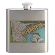 1940's Minnesota Map Flask