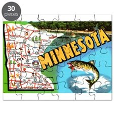 1940's Minnesota Map Puzzle
