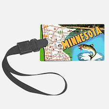 1940's Minnesota Map Luggage Tag