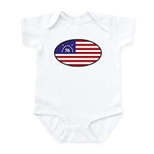 Spirit of '76 Flag Oval Infant Bodysuit