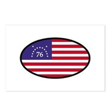 Spirit of '76 Flag Oval Postcards (Package of 8)