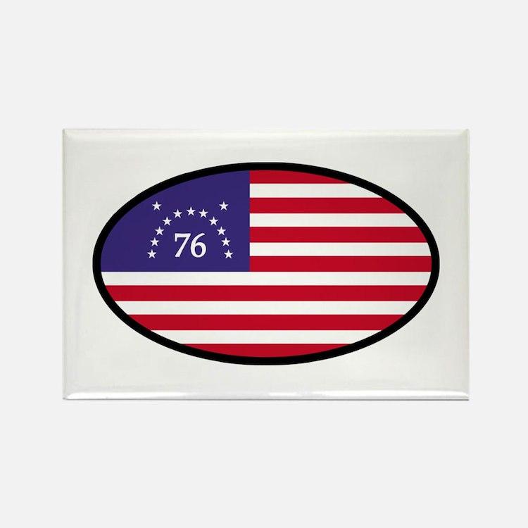 Spirit of '76 Flag Oval Rectangle Magnet