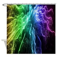 4th July,Fireworks,rainbow colors Shower Curtain