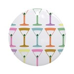 Martini Four Pop Art Martinis Ornament