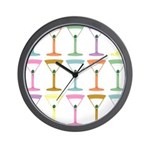 Martini Four Pop Art Martinis Wall Clock