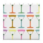 Martini Four Pop Art Martinis Tile Coaster