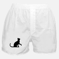 Cat Sitting Boxer Shorts