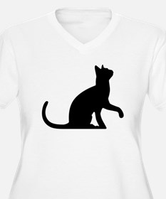 Cat Sitting Plus Size T-Shirt