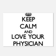 Keep Calm and Love your Physician Postcards (Packa