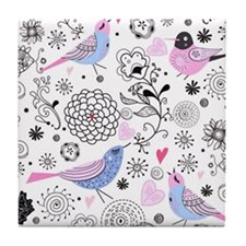 Birds Tile Coaster