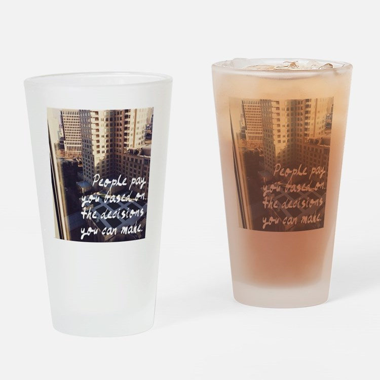 Business Quote Drinking Glass