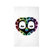 Rainbow Mexico City Owl 3'x5' Area Rug