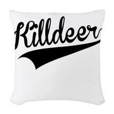 Killdeer, Retro, Woven Throw Pillow