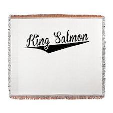 King Salmon, Retro, Woven Blanket