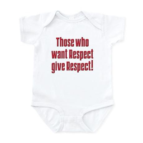 Demand respect Infant Bodysuit