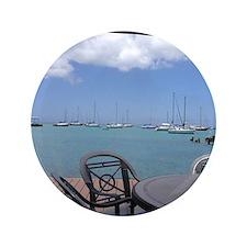 "St. Croix USVI Boardwalk 3.5"" Button"