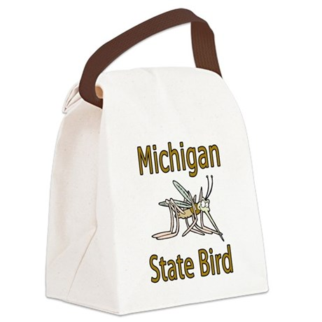 Michigan State Bird.png Canvas Lunch Bag