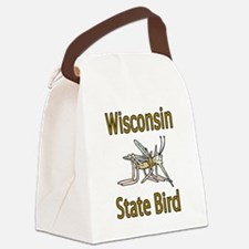 Wisconsin State Bird.png Canvas Lunch Bag
