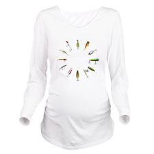 fishclock.png Long Sleeve Maternity T-Shirt