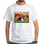2 Angels & Basset White T-Shirt