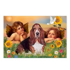 2 Angels & Basset Postcards (Package of 8)