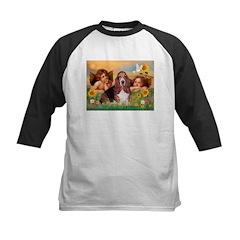 2 Angels & Basset Kids Baseball Jersey