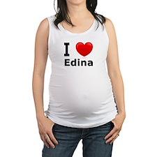 I Love Edina Maternity Tank Top