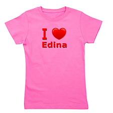 I Love Edina Girl's Tee