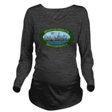 Mpls Oval.png Long Sleeve Maternity T-Shirt