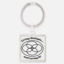 Living Multiple & Loving It! Square Keychains