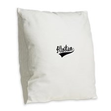 Klosten, Retro, Burlap Throw Pillow