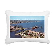 Duluth Harbor Rectangular Canvas Pillow