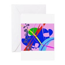 Psychedelic Abstract Pattern Greeting Cards