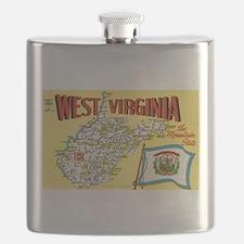 West Virginia Map.jpg Flask