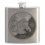 Alaska quarter Flasks