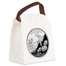 Oklahoma Quarter.png Canvas Lunch Bag