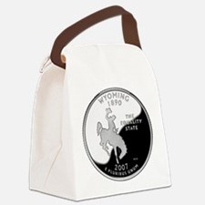 Wyoming Quarter.png Canvas Lunch Bag