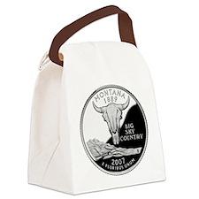 Montana Quarter.png Canvas Lunch Bag
