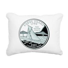 Rhode Island quarter.png Rectangular Canvas Pillow