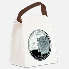 New Hampshire quarter.png Canvas Lunch Bag
