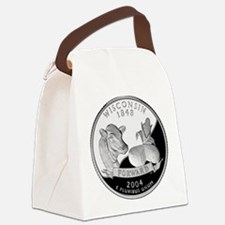 Wisconsin Quarter.png Canvas Lunch Bag